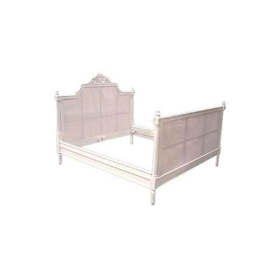 mebel ukir jepara Jual tempat tidur ukir jepara jati klasik cat duco painted french style italian furniture.code 90034