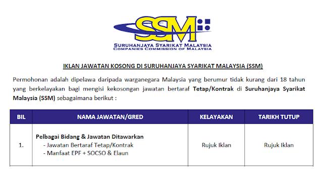 jobs suruhanjaya syarikat malaysia
