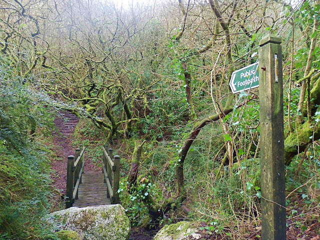 Public Footpath and bridge in Gover Valley, St.Austell, Cornwall