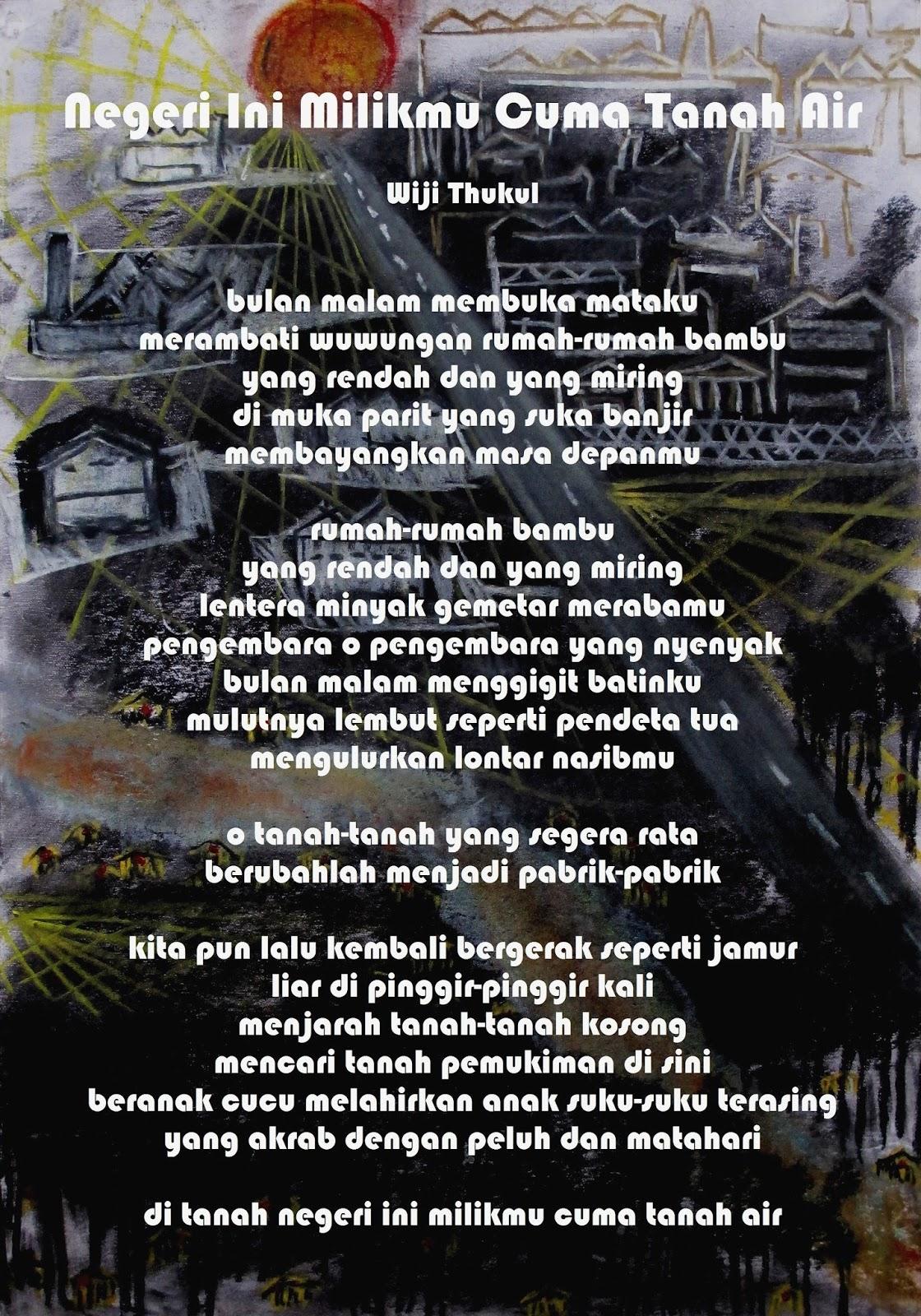 Negeri Ini Milikmu Cuma Tanah Air Puisi Puisi Wiji Thukul 30