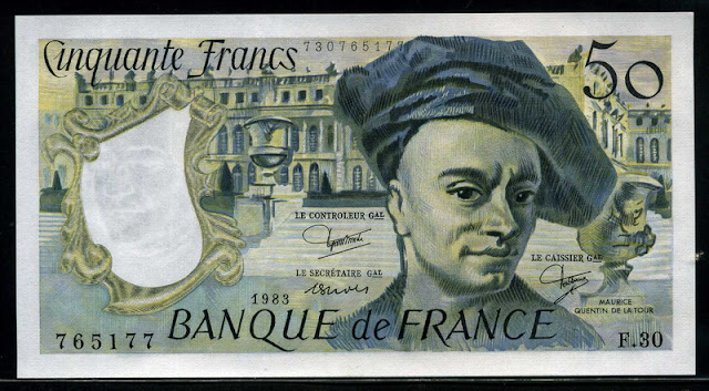 Bank France money currency 50 French Francs banknote bill
