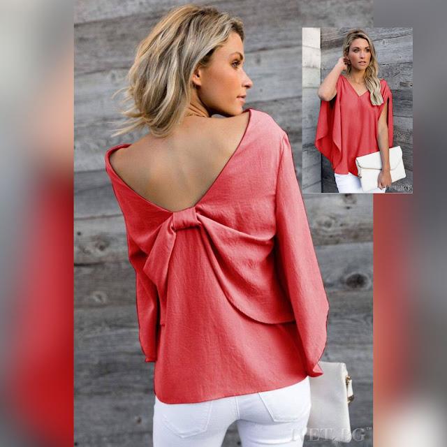 Γυναικεία κόκκινη μπλούζα MAISEY RED