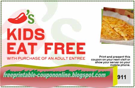 picture regarding Chili Printable Coupons known as Printable Discount codes 2019: Chilis Discount coupons