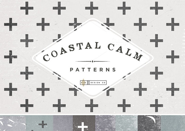 6 packs de fonds - Coastal Calm Digital Papers par Feather & Sage Design Co