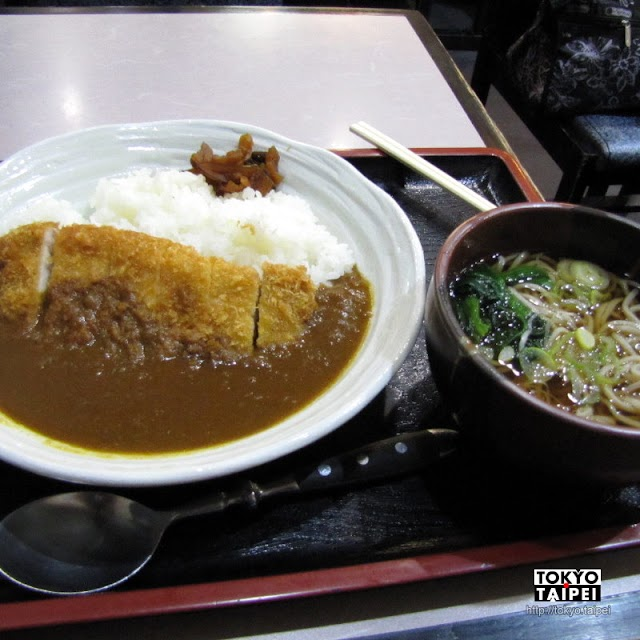 【蕎麥麵店薩摩】在東京鐵塔下 吃咖哩豬排飯和蕎麥麵