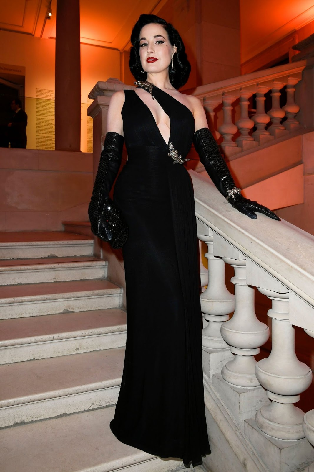 Dita Von Teese - Harper's Bazaar Gala International de la Mode, Fall Winter 2020 at Paris Fashion Week