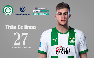 PES 2021 Faces Thijs Dallinga by CongNgo