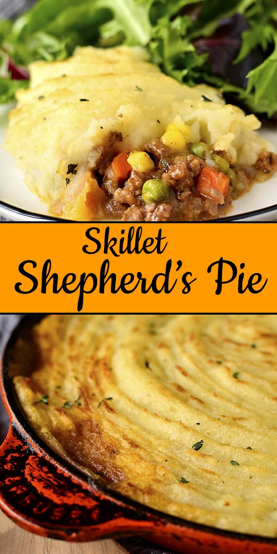 Skillet Shepherd's Pie #Pie #GlutenFree #Dinner