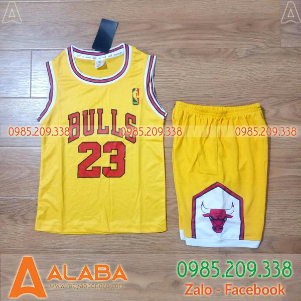 Áo bóng rổ Bulls màu vàng đẹp