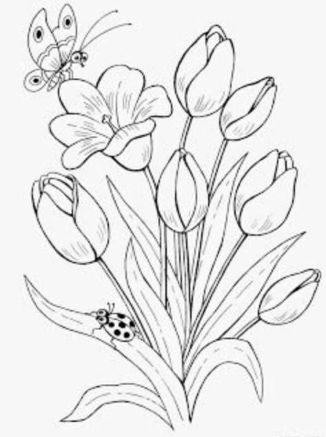 Mewarnai Gambar Bunga