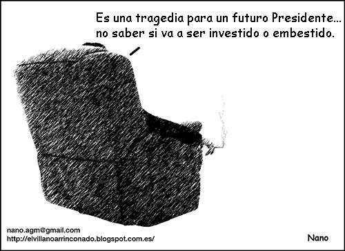 el villano arrinconado, humor, chistes, reir, satira, investidura, Rajoy, PP