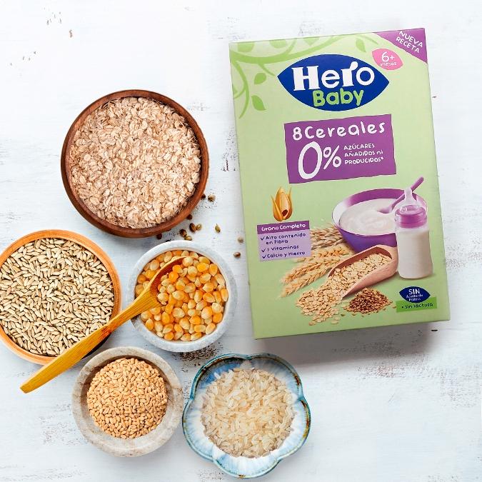 Cereales infantiles con grano completo
