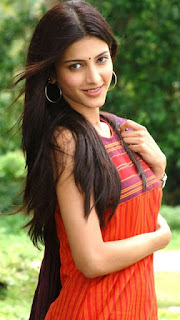 Shruti Hassan Photo in Orange Dress