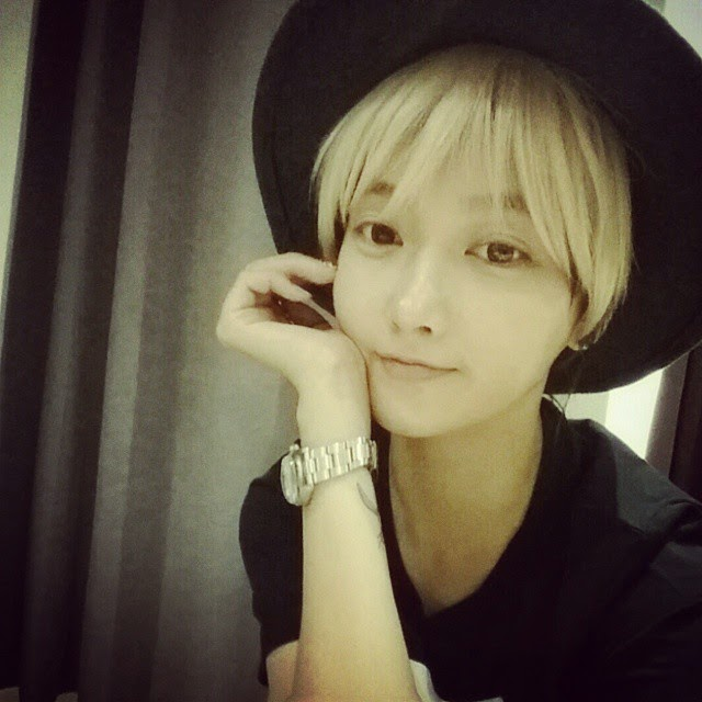 t-ara soyeon blonde hair