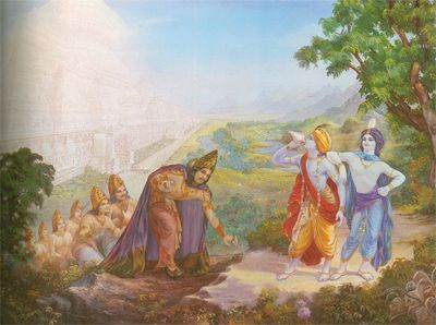 Mountains adore Lord Krishna