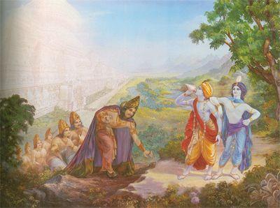 Mountains adore Lord Krishna