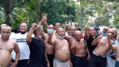 Kades Jadi Tersangka Korupsi, Warga di Kebumen Lakukan Aksi Cukur Gundul dan Jalan Kaki 10 KM