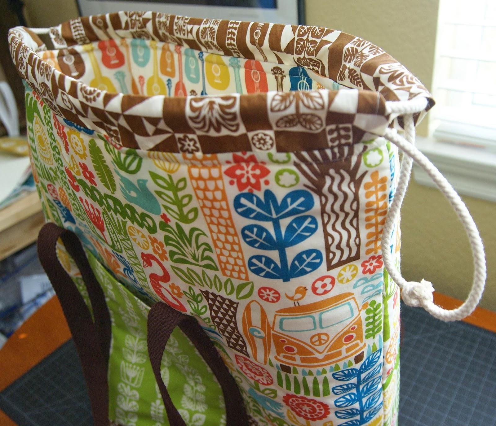 Tutorial  Ipanema Beach Bag Tutorial  by Heidi of Fabric Mutt  - Birch  Fabrics 454fc15436ca