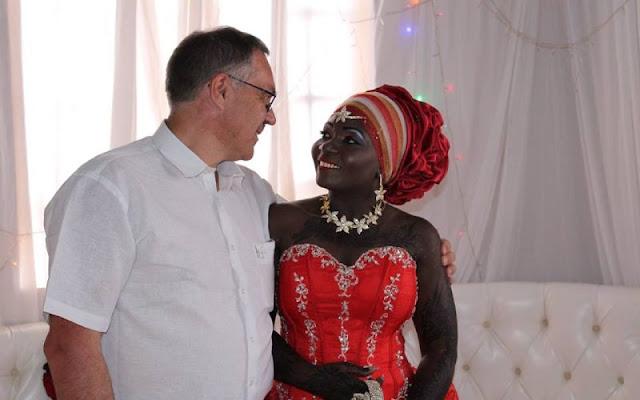 Nyota Ndogo and her husband photo