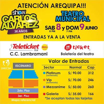 Precios de entradas Carlos Alvarez