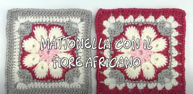 Como Tejer Motivo Flor Africana a Crochet