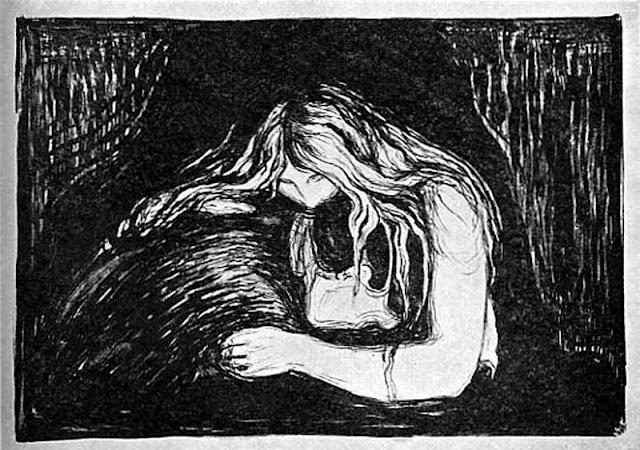 Эдвард Мунк - Вампир. 1902