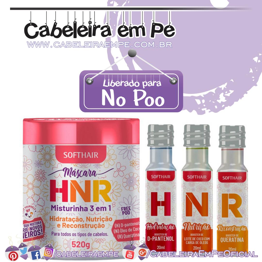 Máscara e Boosters HNR (Hidratação, Nutrição e Reconstrução) Misturinha - Soft Hair (No Poo)