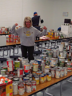 meridian optimist club canned food drive