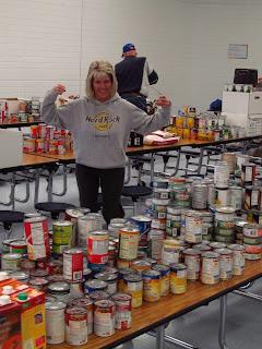 meridian optimist club canned food drive