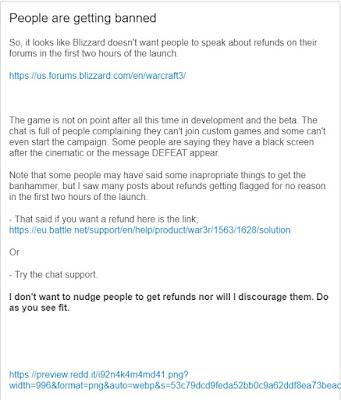 Blizzard intenta evitar los reembolsos apenas a 2 horas del lanzamiento