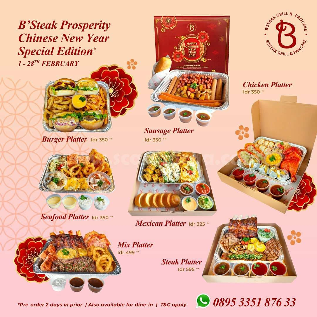B'STEAK GRILL & PANCAKE Promo CHINESE NEW YEAR + VALENTINE'S DAY SPECIAL EDITIONS