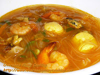 Seafood Sotanghon with Squid Ball Soup