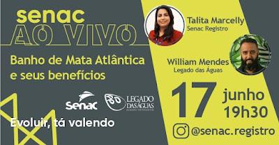 Mês do Meio Ambiente será comemorado com programação digital promovida pelo Legado das Águas e Senac Registro