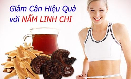 uống nấm linh chi giảm béo
