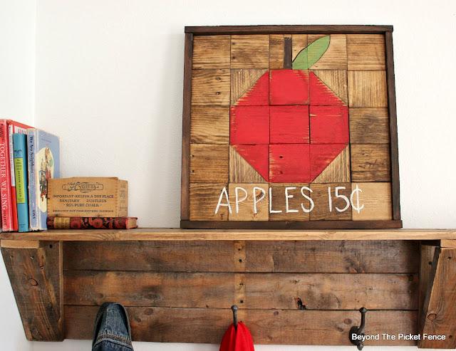 Fall apple sign