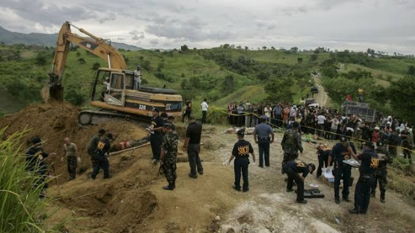 Victims were buried in a hilltop grave in Ampatuan, Maguindanao.