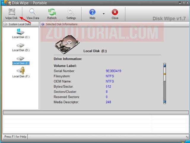 Agar Data Hardisk Tidak Bisa dipulihkan (Recovery) Lakukan Wipe Disk