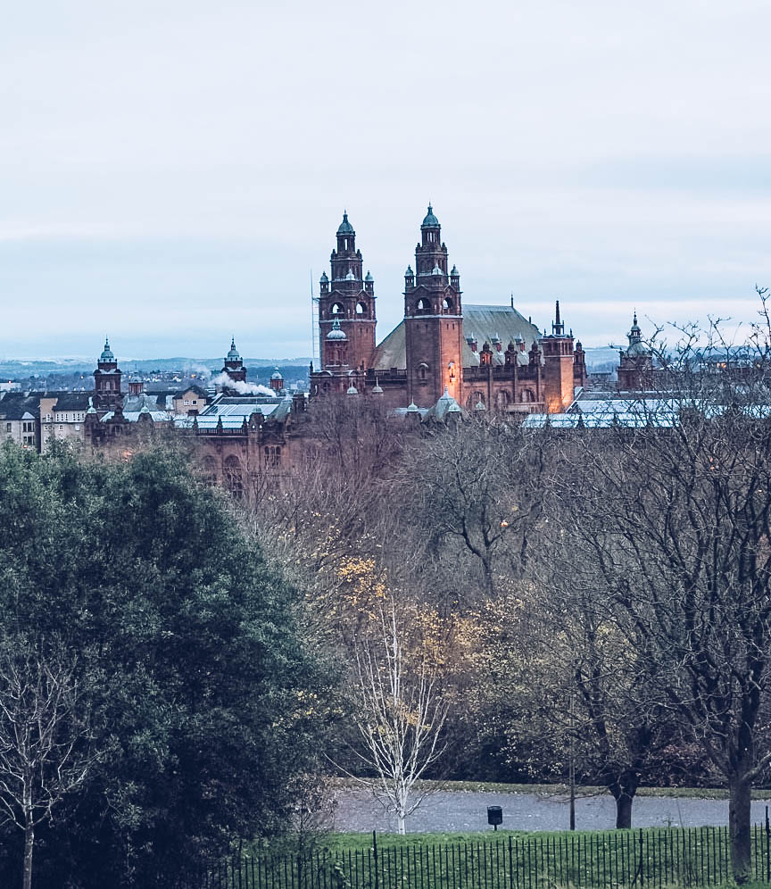 Kelvingrove art gallery from above