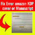 I will Fix any error Rejected paperback and kindle cover