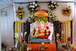 Ganpati Decoration Ideas At Home Images