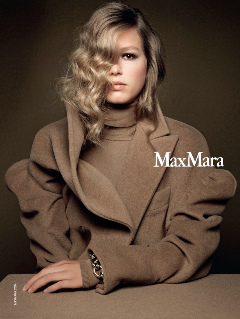 Max Mara taps Anna Ewers for fall-winter 2020 campaign.