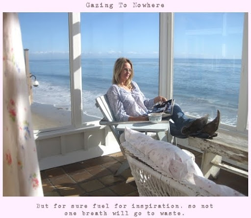 Rachel Ashewell at her Malibu beach cottage
