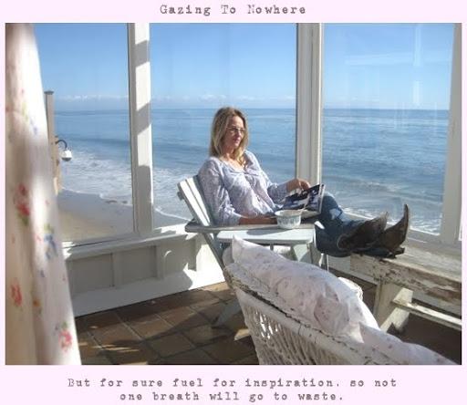 Rachel Ashewell at her Malibu beach cottage