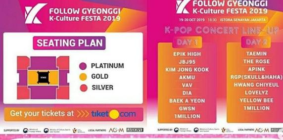 Gyeonggi K-Culture Festa 2019 Akhirnya Bagikan List Guest Star dan Pricelistnya, Udah Pada Pesan Belum ??