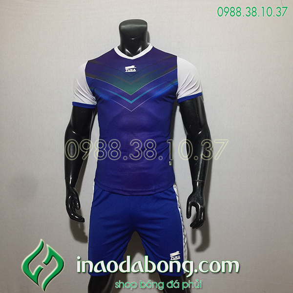 Áo bóng đá ko logo Zuka Mon màu tím than