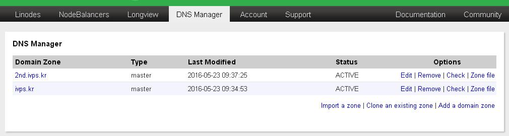 Linode.com DNS Manager