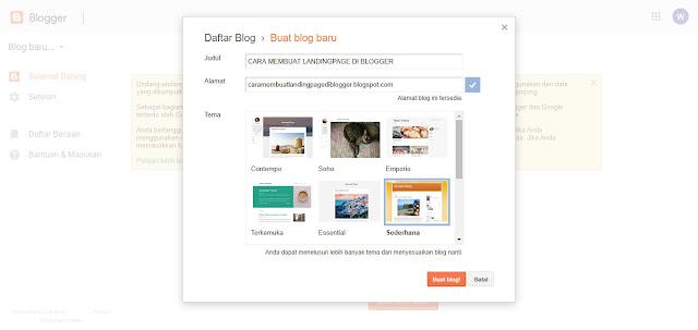 Membuat Landingpage berkualitas di blogger