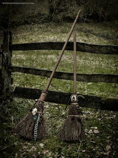 Cat Besom Brooms, Broomsticks, Aker Dantzaria, Mandragoreae by Victoria Francés