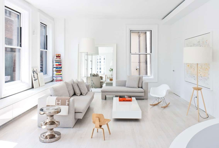 "Living room in Modern New York Apartment by ""Resolution: 4 Architecture"""
