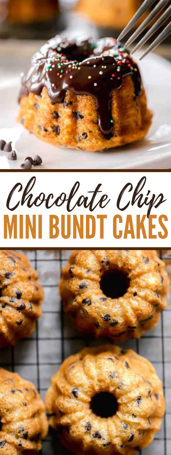 Chocolate Chip Mini Bundt Cakes #desserts #sweets